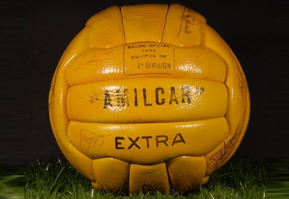 Amilcar, el primer balón con el que se jugó en la liga española