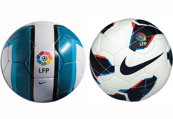 Dos de los últimos balones creados por Nike