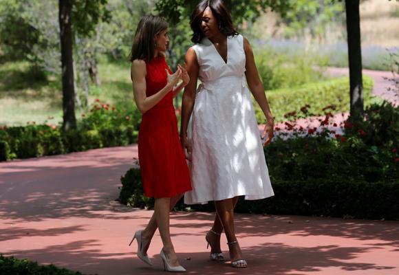 Michelle Obama ha estado en Madrid hace apenas una semana