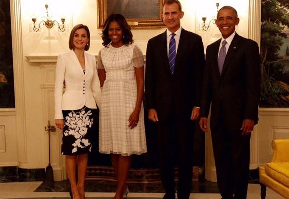 La última vez que Obama vio a los Reyes fue en EEUU