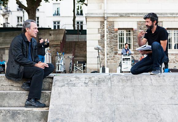Alberto Rodríguez y Jose Coronado en El hombre de las mil caras