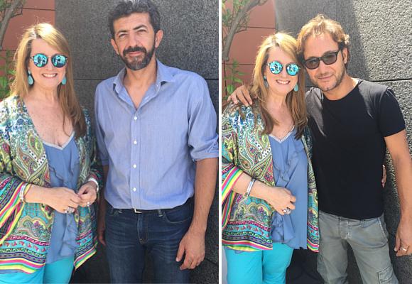 Amalia Enríquez con Alberto Rodríguez y Carlos Santos