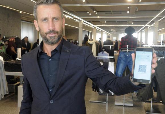Aplicación de movil en la nueva Zara