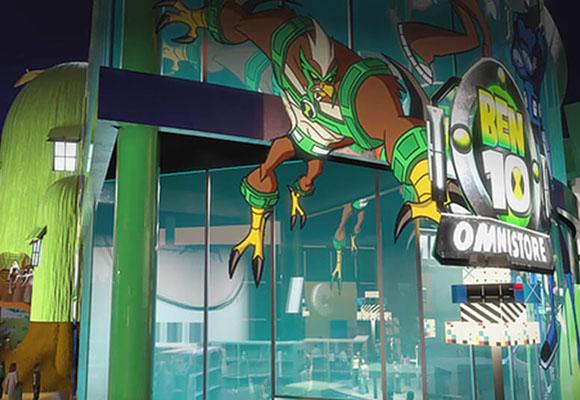 Cuenta con una zona dedicada a Cartoon Network