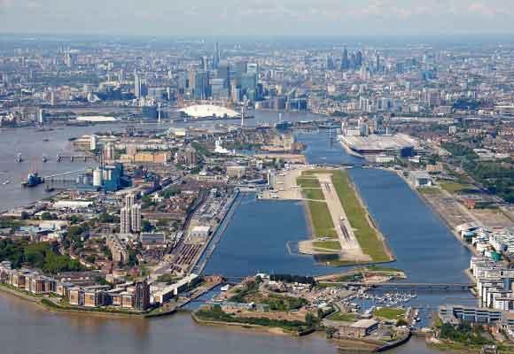 Vista aérea del London City Airport