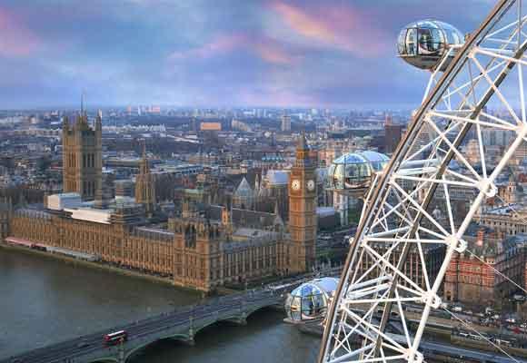 El London Eye, uno de los lugares más visitados de Londres