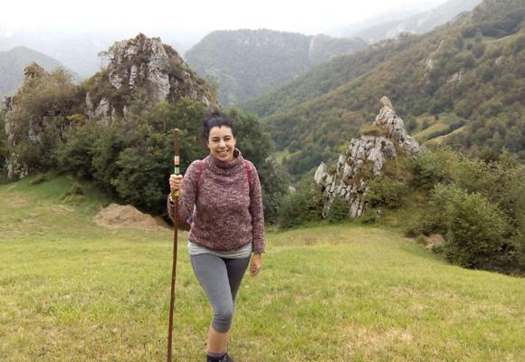 Nuestra colaboradora durante su estancia en Asturias