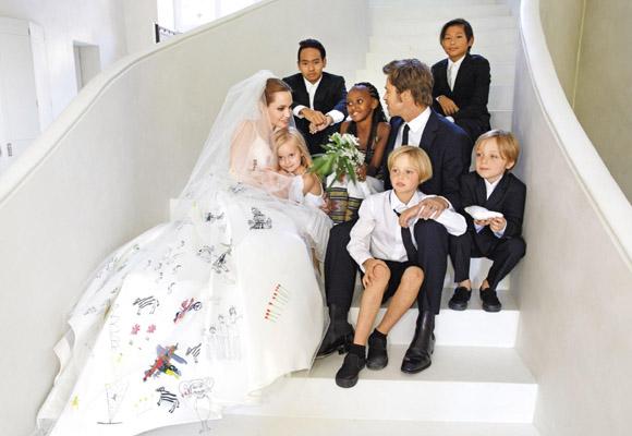 La familia Brangelina el día de su boda