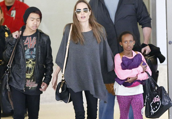 Zahara, la más coqueta de los hijos de Brad y Angelina