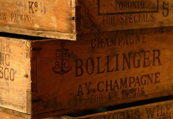 Champagne Bollinger cajas