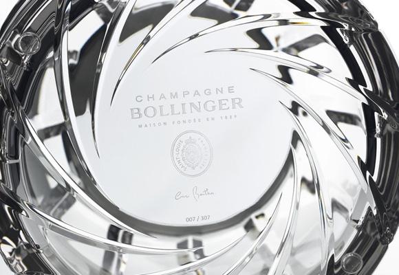 Champagne Bollinger Diseñado por Eric Berthès y hecho por Crystal Saint Louis