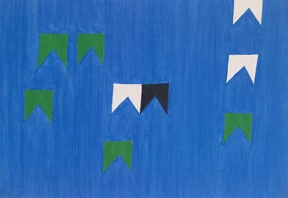 Alfredo Volpi bandeiras soltas