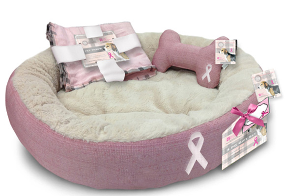 American Kennel Club. Set de camita con lazo rosa