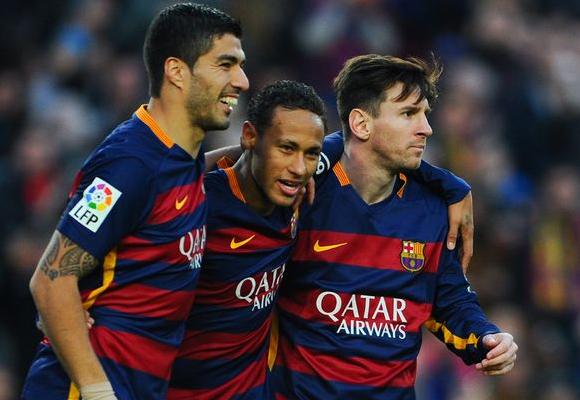 Messi, Neymar y Suárez