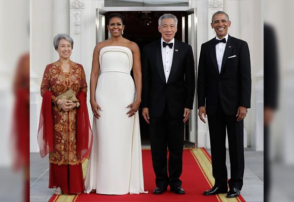 Michelle Obama con Brandon Maxwell