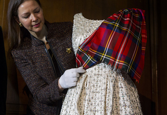 Queen Elizabeth II Norman Hartnell dress