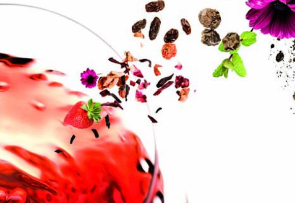 Copa de vino y aromas
