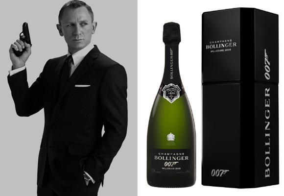 Champagne Bollinger R.D. 1988 magnum y James Bond