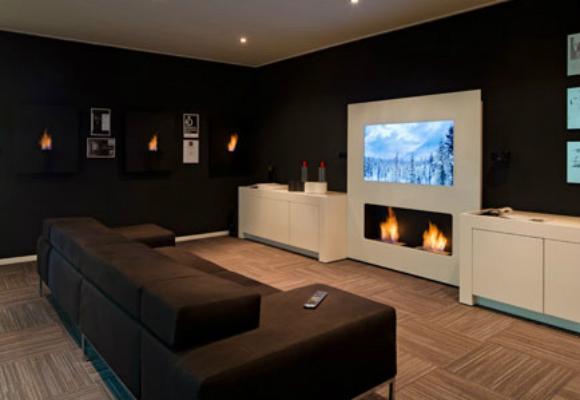 sofá salón televisión decoración
