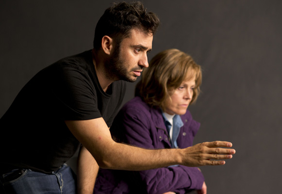 Juan Antonio García Bayona durante el rodaje 'Un monstruo viene a verme'