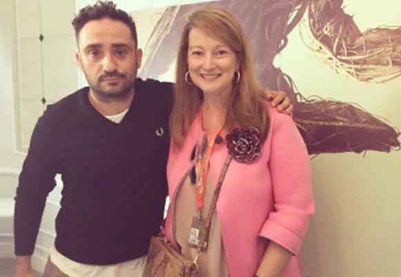 Nuestra colaboradora Amalia Enríquez junto a Juan Antonio García Bayona