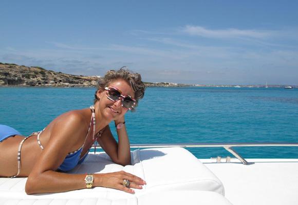 Nuestra colaboradora Carla disfrutando de uno de sus viajes