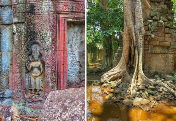 La imagen central en Wat Ta Prohm es la diosa de la sabiduría