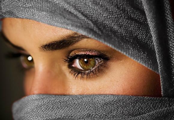 mirada mujer musulmana