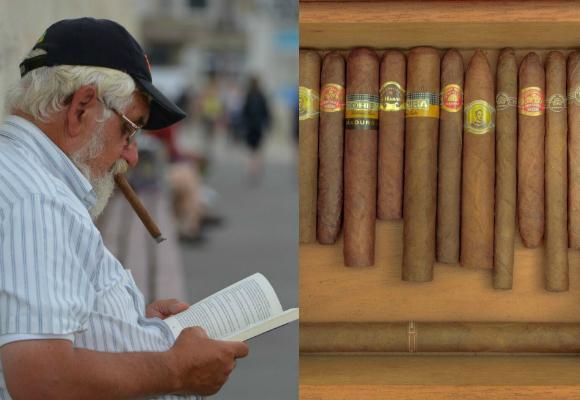 tabaco hombre fumar y leer
