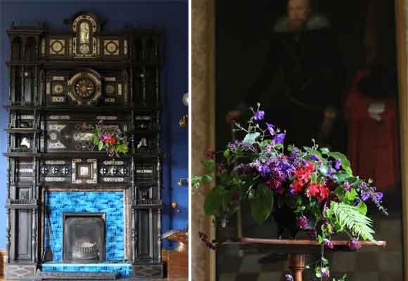 C, D y E La diseñadora estuvo en Cambo State House, Escocia, como florista residente. Fotografía Christin Geall