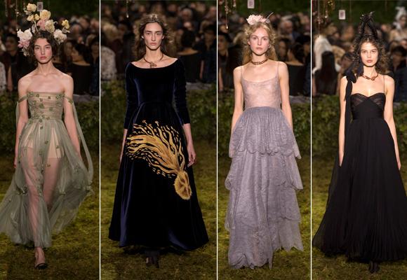 Hadas del bosque en el desfile de Dior