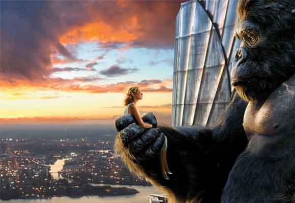 Recuerda con cariño King Kong. Aquí un fotograma del remake de 2005