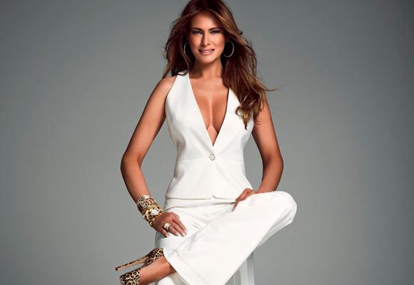 Melania luce tipo de infarto y todo el mundo espera mucho de ella por su pasado como modelo