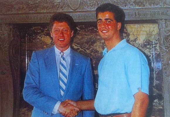Vicente conoció a Bill Clinton