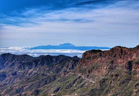 Vistas del Teide desde Cruz de Tejeda