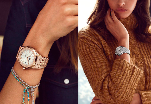 Se lleva el maravilloso reloj Royal Oak Frosted Gold