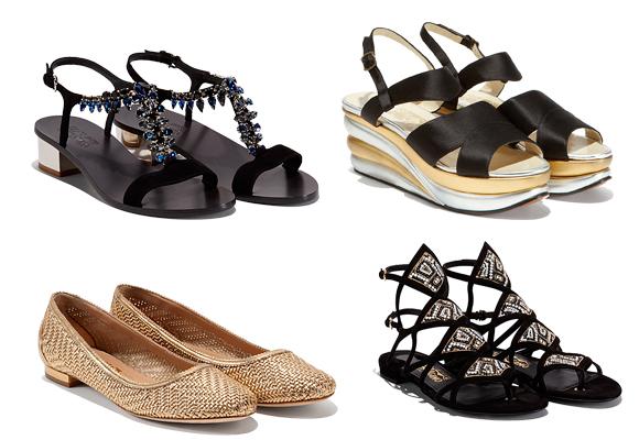 El calzado, cómodo y con varios puntos de sujeción como estos modelos de Ferragamo