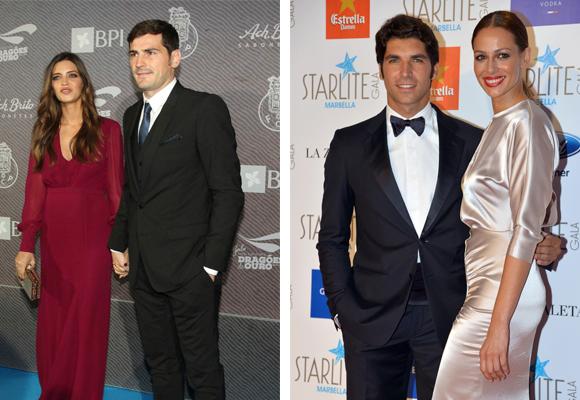Los matrimonios Casillas-Carbonero y Rivera-González ocupan los puestos tercero y cuarto