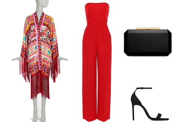 El rojo también se lleva. Estola Dolce & Gabbana, mono