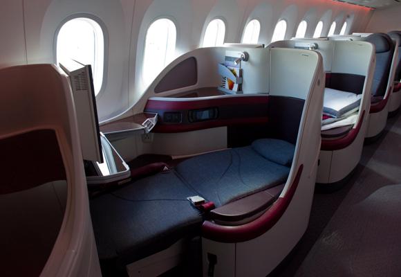 Asientos de primera clase con cama en el Dreamliner