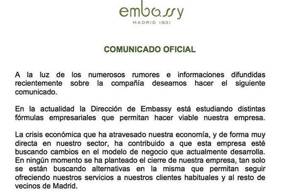 embassycomunicado