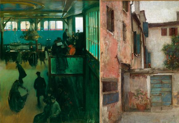 'Baile en el moulin de la galette' (1890-1891) y 'El Patio' (1900), Ramón Casas